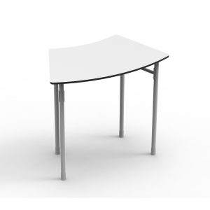 Nautilus Table DESK21 I curved 8, height-adjustable (52-64 cm)