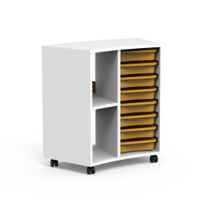 Nautilus BOX Cabinets, curved, internal with trays