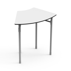Nautilus Table DESK21 I curved 6, height-adjustable (52-64 cm)