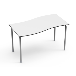 Nautilus Table DESK21 U, rectangular, waved