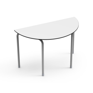 Nautilus Table DESK21 U, semi-circular, waved, height-adjustable (70-82 cm)