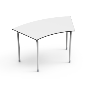 Nautilus Table DESK21 U, curved, height-adjustable (70-82 cm)