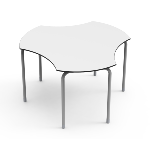 Nautilus Table DESK21 U, round with cutouts