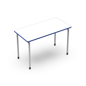 Nautilus Double Table Q3, edge top, fix heigh