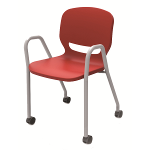 Nautilus Ergos Shell chair with arms and wheels