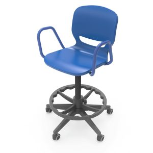 Nautilus Ergos Shell Spin chair with arms and feet rest