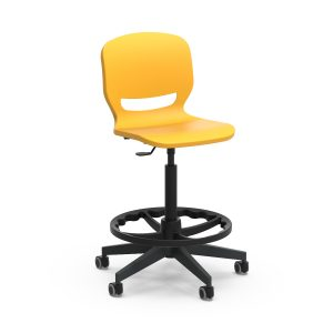 Nautilus Ergos Shell Spin Chair with feet rests