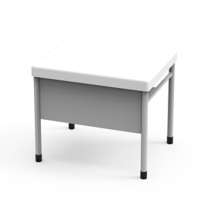 Nautilus Mais Single desk with shelf and front pannel