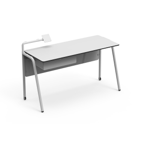 Nautilus Teacher´s Table Team with screen support, double